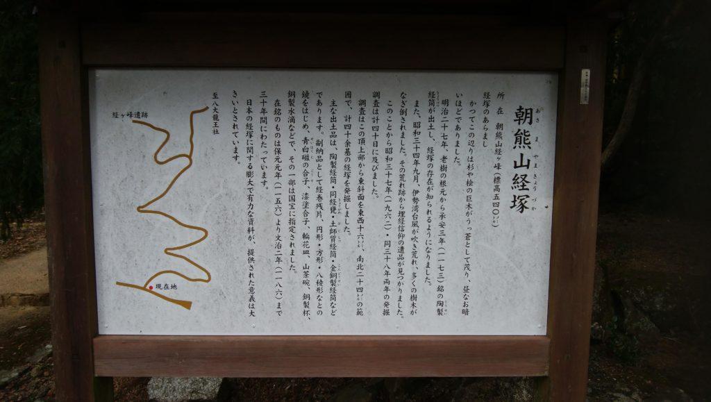 朝熊山経塚群説明