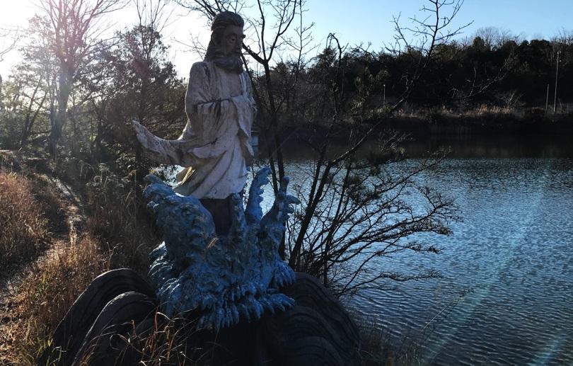 桜ヶ池大蛇入定の由来の写真